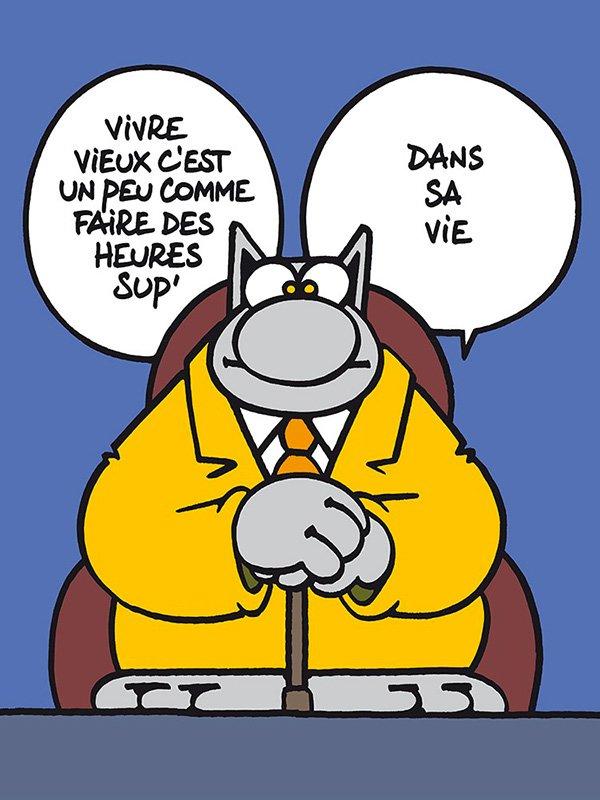 Sérigraphie Le Chat par Geluck - Vivre vieux - Brüsel